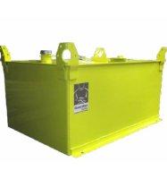 Réservoir mobile de couleur jaune | Camion-citerne | Mesures Calib-Tech | Montréal